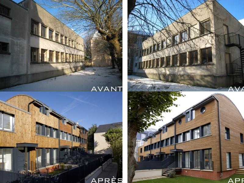 Avant et après travaux rue Berthier à Versailles