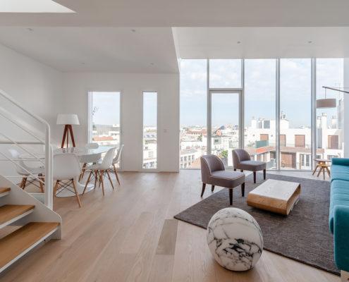 Intérieurs - Surélévation immeuble 64 avenue Pierre Grenier 92100 Boulogne-Billancourt - Iroko Surélévation